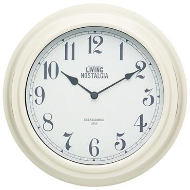 KitchenCraft Wall Clock Cream 25.5cm
