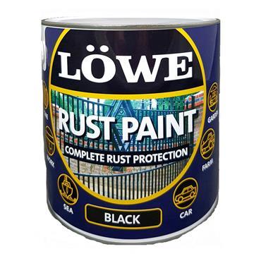 Lowe Rust Paint Black 500ml