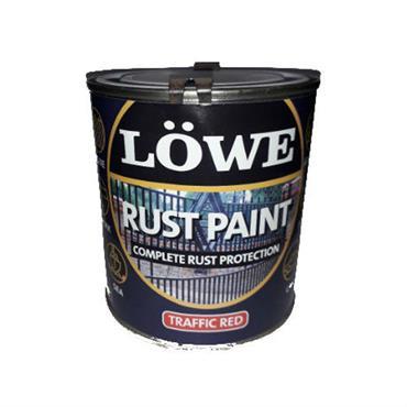 Lowe Traffic Red Rust Paint 1L