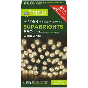 Warm White 650 LED Supabrights
