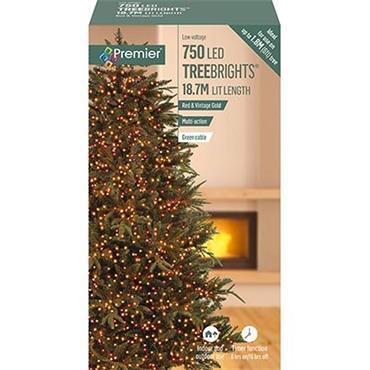 Premier 750 Vintage Gold & Red LED Treebrights