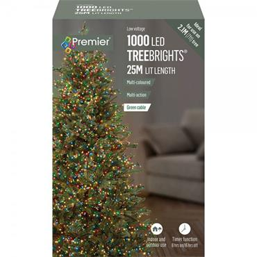 Multicoloured 1000 LED Treebrights