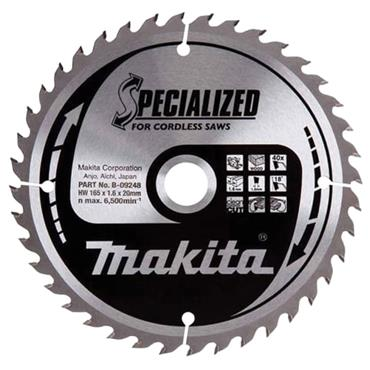 Makita B-09248 Specialized Wood Blade for Cordless Saws 165 x 20mm x 40T