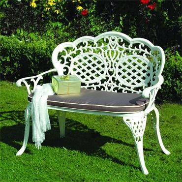 Ballygowan Cast Aluminium Love Seat Cream