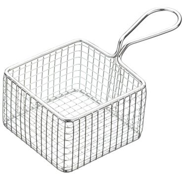KitchenCraft MasterClass Mini Deluxe Stainless Steel Square Fry Basket