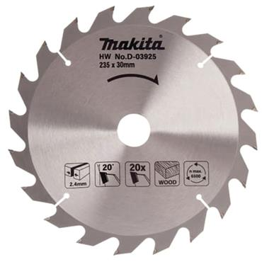 Makita D-03925 TCT Circular Saw Blade 235 x 30mm x 20T