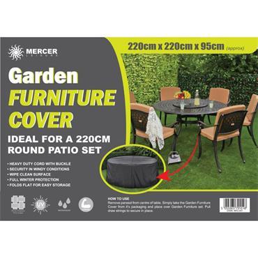 Premium Round Garden Furniture Cover 2.2m
