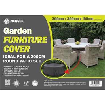 Premium Round Garden Furniture Cover 3m