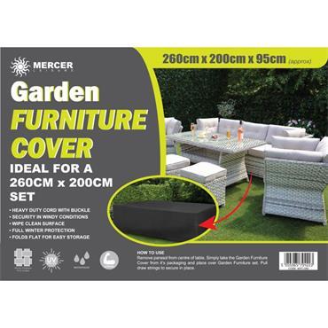 Premium Rectangular Garden Furniture Cover 2.6 x 2m