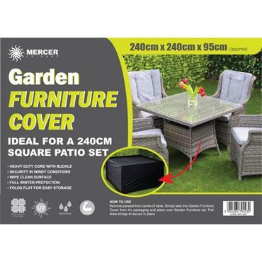 Premium Rectangular Garden Furniture Cover 2.4 x 2.4m