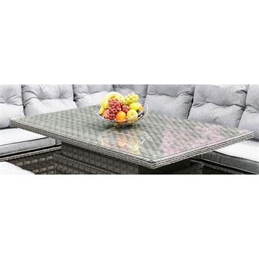 Amalfi Grey Adjustable Glass Top Casual Sofa Set