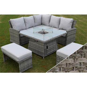 Amalfi Casual Dining Firepit Set