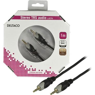 3.5mm Male To Male Stereo Cable 1mtr