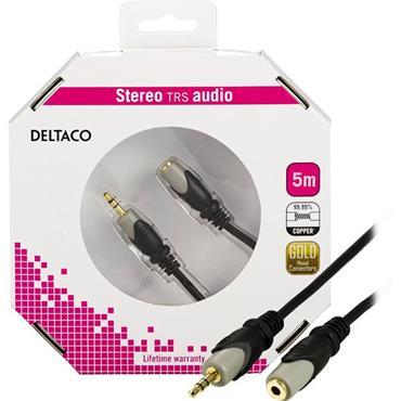 Deltaco 3.5mm Headphone Extension 5M