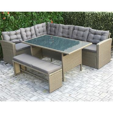 California Casual Dining Set Grey