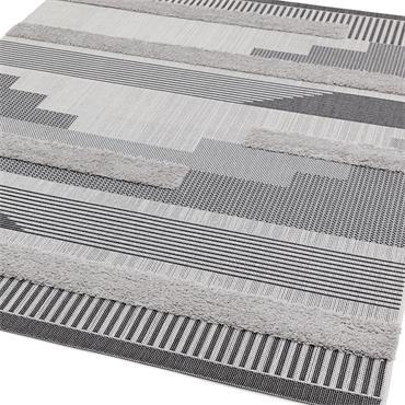 Asiatic Monty 120 X 170cm Mn05 Black Grey Geometric Outdoor Rug