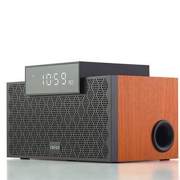 Edifier 2.1 Portable Bluetooth Speaker with Alarm Clock Walnut