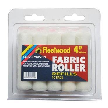 "Fleetwood 4"" Fabric Roller Refills 10pk"