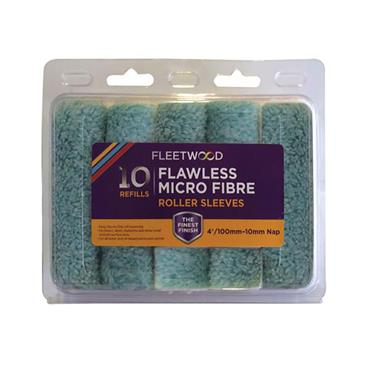 "Fleetwood 4"" Flawless Micro Fibre Sleeves 10pk"
