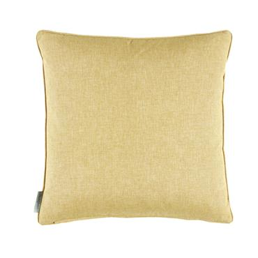 Morris & Co  Sunflower Velvet Cushion Saffron Vellum