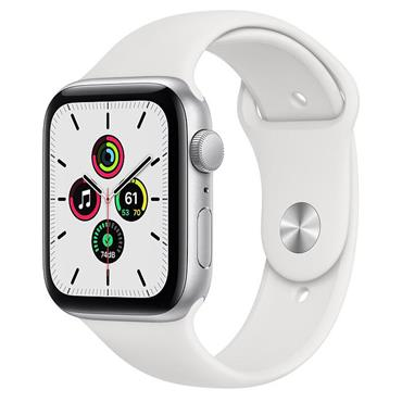 Apple Watch SE 44mm Silver Case / White Band