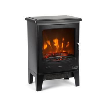 Ezee Glow Wee Hugo Black Electric Stove