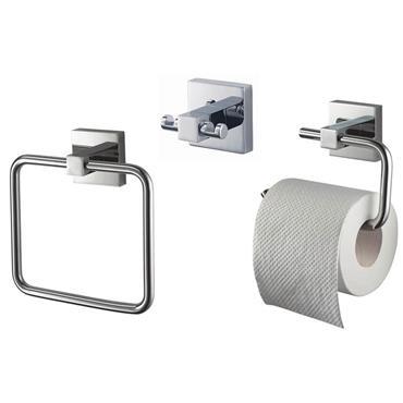 Mezzo Square Bathroom Accessory Set