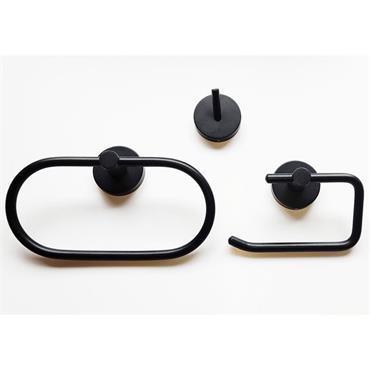 Kosmos Black Bathroom Accessory Set 3pce