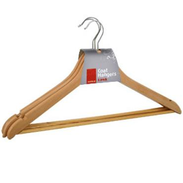 De Vielle Wood Coat Hanger 3pk