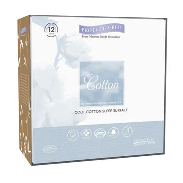 Protect A Bed  Cotton Mattress Protector Double