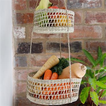KitchenCraft Natural Elements Hanging Planting Tray