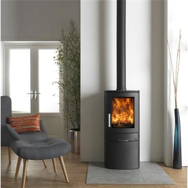 Neo1c 1-Sided Glass Multifuel Stove 5kw