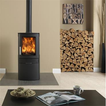 Neo3c 3-Sided Glass 5kw Multifuel Stove