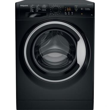 Hotpoint 8kg 1400 Spin Black Washing Machine