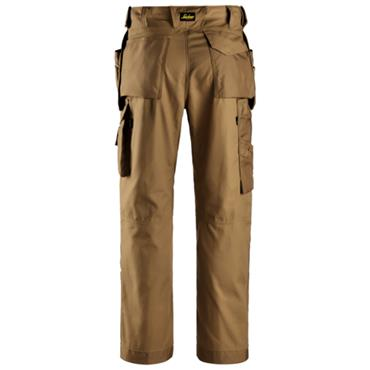 Snickers 3214 Craftsman Canvas + Trousers Holster Pockets Brown