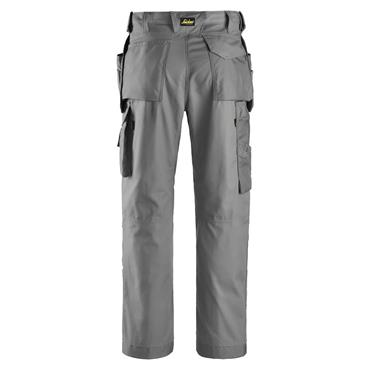 Snickers 3214 Craftsman Canvas + Trousers Holster Pockets Grey