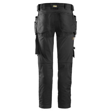 Snickers 6241 Allroundwork Stretch Trousers Holster Pockets Black