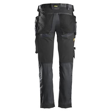 Snickers 6241 Allround Stretch Trousers Holster Pockets Grey / Black
