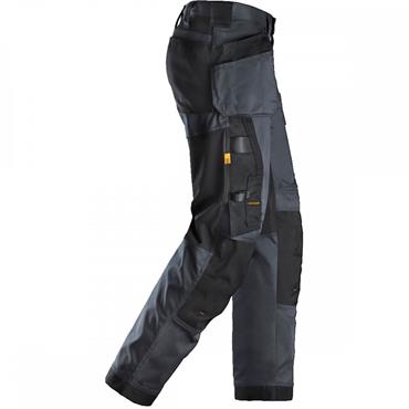 Snickers 6251  Allroundwork Stretch Loose Fit Trousers Holster Pockets Grey/Black