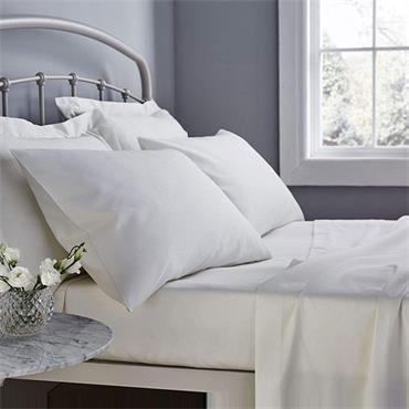 Bianca 500 Thread Count Cotton Rich Fitted Sheet Cream