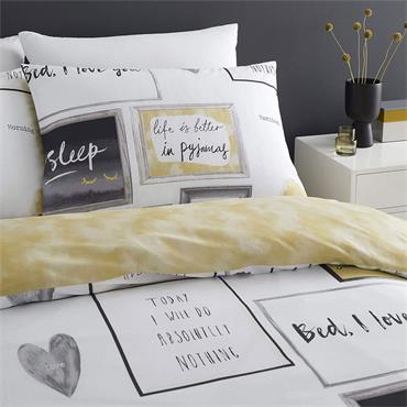 Catherine Lansfield Sleep Dreams Ochre Duvet Set