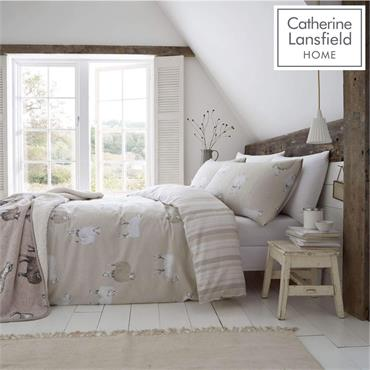 Catherine Lansfield Brushed Cotton Sheep Duvet Set