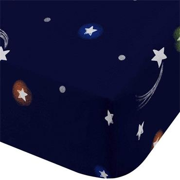 Catherine Lansfield Happy Space Navy Fitted Sheet