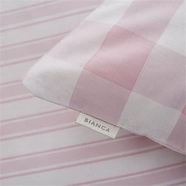 Bianca Check And Stripe Pink Fitted Sheet