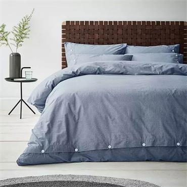 Content By Terence Conran Washed Texture Blue Duvet Set