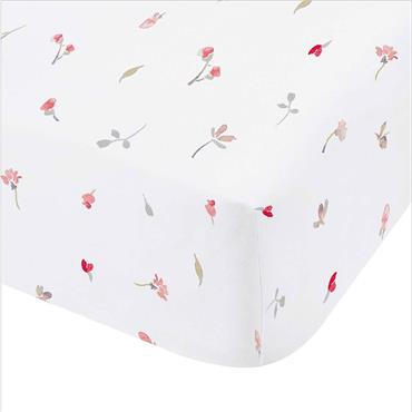 Catherine Lansfield Jasmine Floral White Fitted Sheet