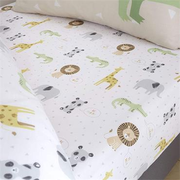 Bianca Zoo Animals Pastel Sheet Fitted