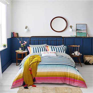 Joules Cambridge Stripe Multi Duvet Cover Set