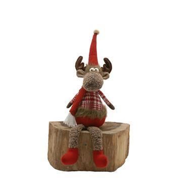 Festive 48cm Brown Dangly Legs Reindeer