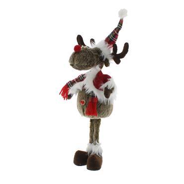 Festive 36cm Brown Plush Standing Reindeer